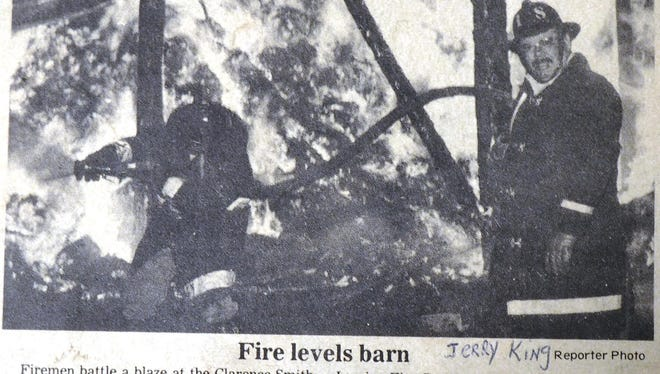 This undated clip from The Reporter shows two Eden Volunteer Fire Department members battling a blaze