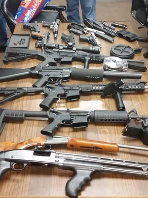 These are among weapons confiscated by the Richmond County Sheriff's Office.