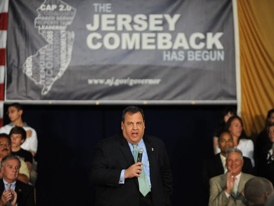 Gov. Chris Christie hosts his first town hall meeting