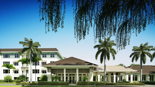 The new building at Vi at Bentley Village will be attached to the East Clubhouse.