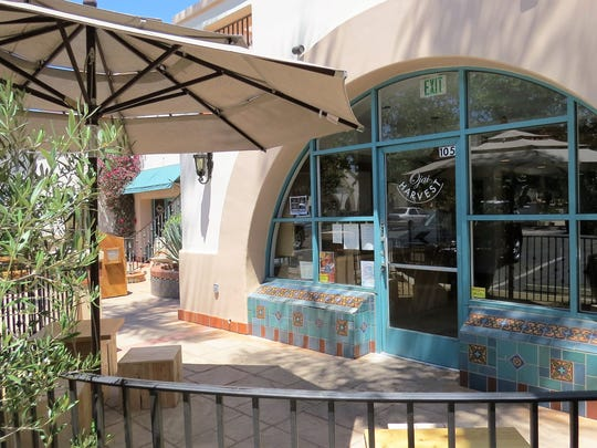 Ojai Harvest serves lunch and dinner Wednesdays through Sundays at the former Los Caporales Restaurant space in Ojai. It shares a patio with the adjacent Harvest Bar, once the site of Los Caporales' tequila bar.