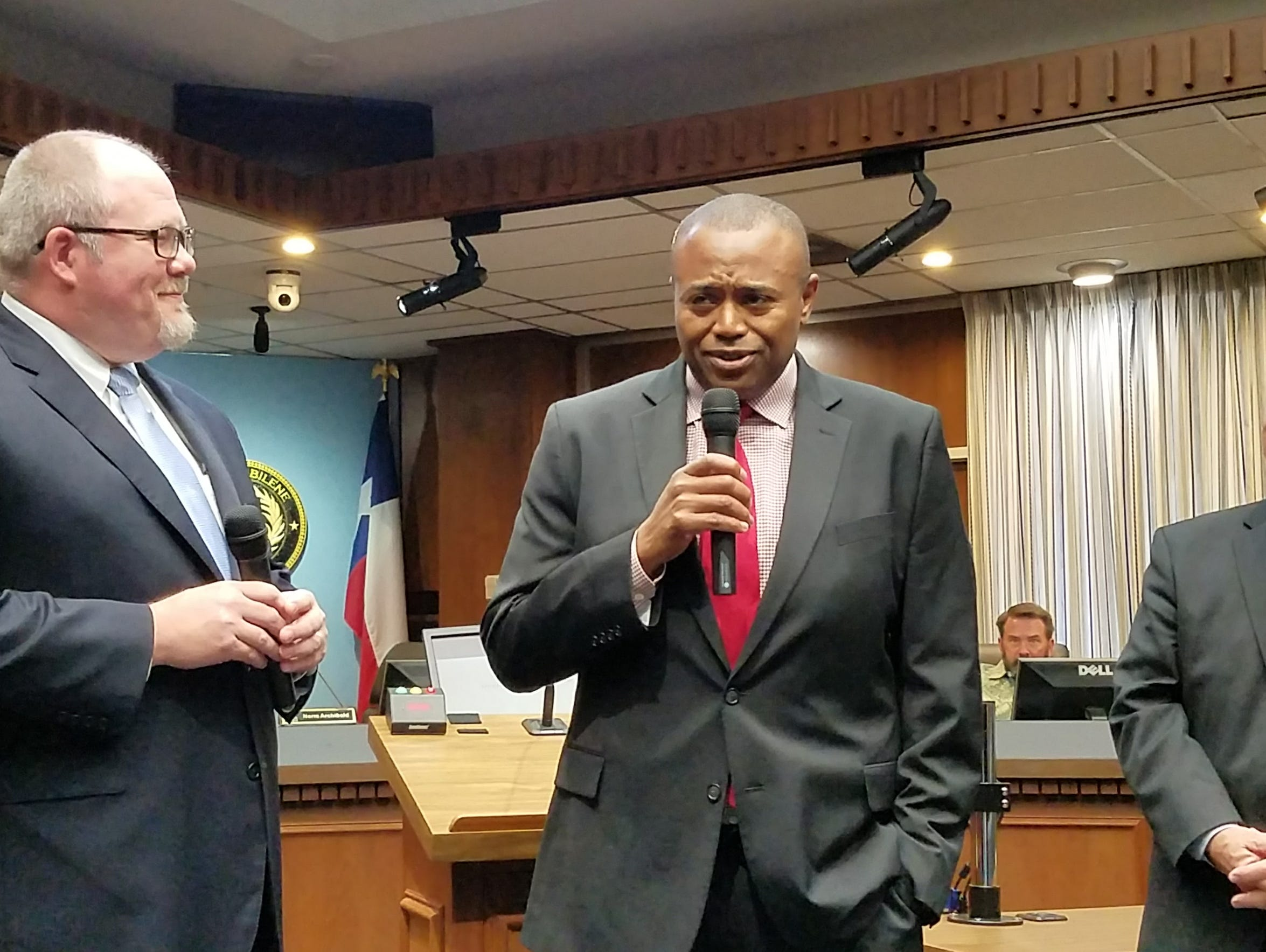 New Abilene Mayor Anthony Williams is introduced in