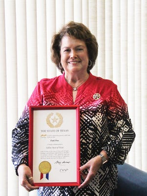 On June 30, the GFWC Texas President Patti Poe, of Bowie, will serve the last day of her two-year term in office as the 59th President of Texas Federated Women's Clubs, a member of the international organization General Federation of Women's Clubs.