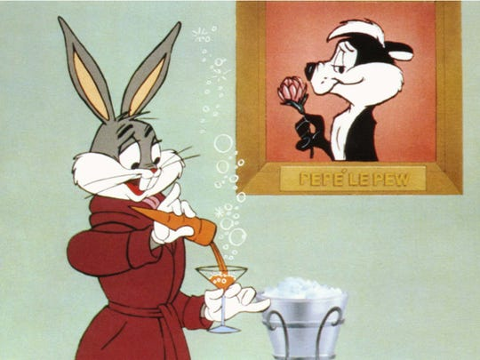"""The wascally wabbit weminisces, er, reminisces about his life in pictures in """"The Bugs Bunny/Road Runner Movie,"""" which screens Saturday at the Memphis Brooks Museum of Art."""