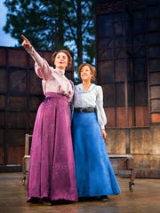 From left, Christine Weber (as Celia) and Betsy Mugavero (as Rosalind).