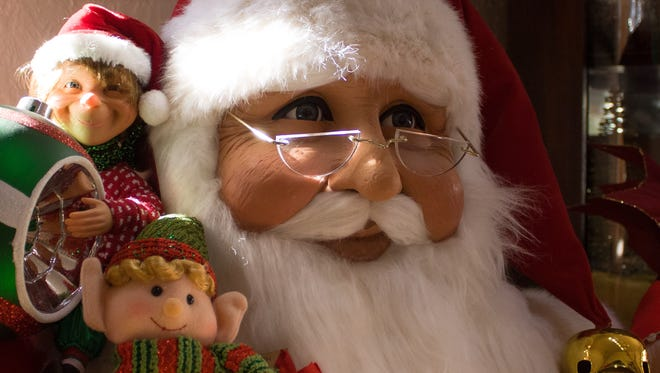Pictured is a Santa mannequin on display at Tis the Season in old Mesilla on Thursday.