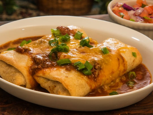 When biting into a warm, cheesy chimichanga, think