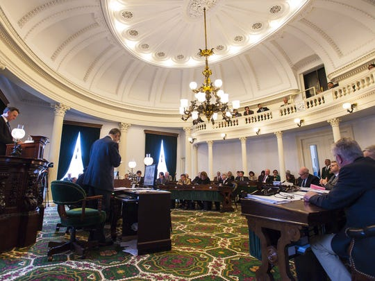 The Senate gave its final approval to a marijuana legalization bill by roll call vote at the Statehouse in Montpelier on Thursday, February 25, 2016.