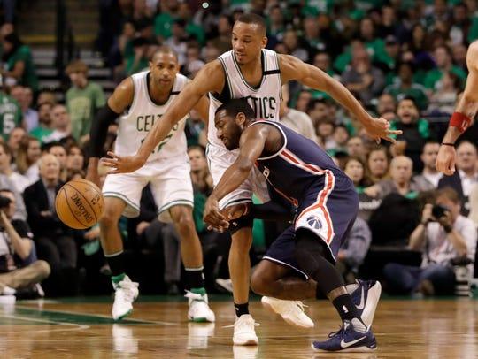 May 10, 2017; Boston, MA, USA; Celtics guard Avery