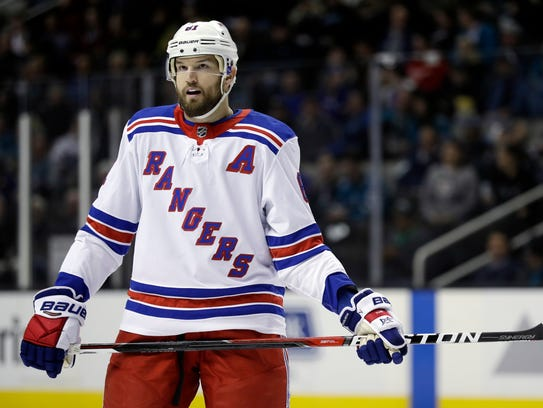 New York Rangers' Rick Nash (61) during the first period