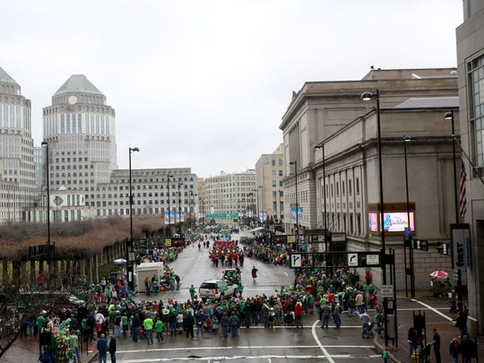 The St. Patrick's Day parade has happened every year since 1967, despite rain and snow.