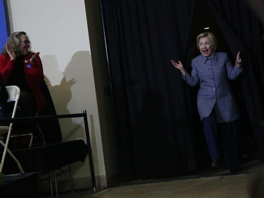 Clinton says Trump's vulgarity doesn't shock her