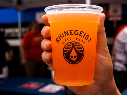 Rhinegeist's Strawberry Basil Dodo beer Thousands was a limited release at Taste of Cincinnati on Fifth Street in downtown Cincinnati Saturday, May 27, 2017.