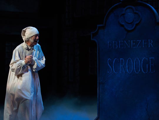 "Rodney Clark performs as Ebenezer Scrooge.  ""A Christmas"