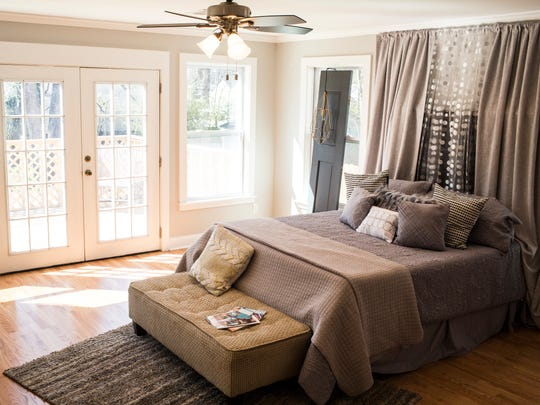 March 13, 2018 - The master bedroom at the home located