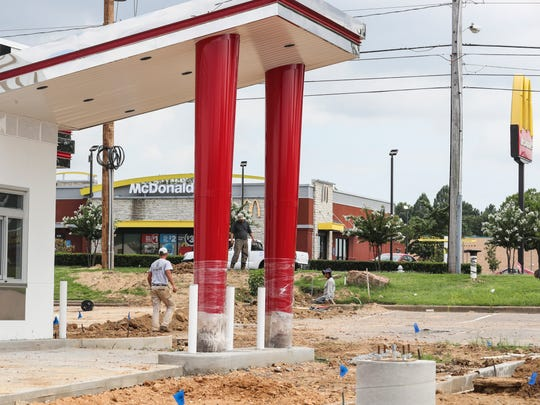 Construction continues on a new Checkers located at 6990 Shelby Drive. When it opens on July 31 it will be the 20th diner located along a 1-mile stretch of Shelby Drive.