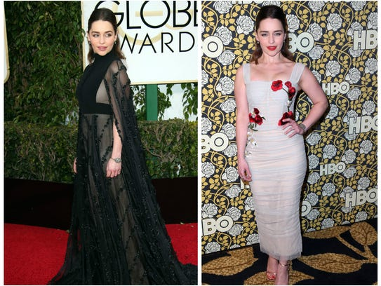 Emilia Clarke ditched her long dress for a short party