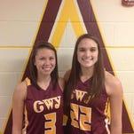 Cherokee's Kendall Toineeta, left, and Avery Mintz.