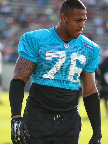 DE Greg Hardy played one game as the Panthers' franchise