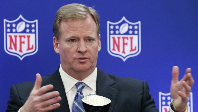 NFL commissioner Roger Goodell addressed the media Friday