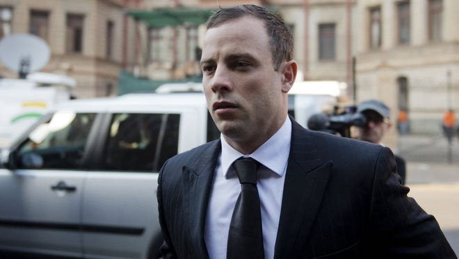 Oscar Pistorius arrives at court in Pretoria, South Africa, on June 30.