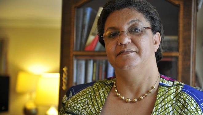Ghana's Minister of Foreign Affairs Hanna Tetteh in her hotel room in Washington D.C. after the U.S-Africa Leaders Summit, Thursday August 7, 2014.