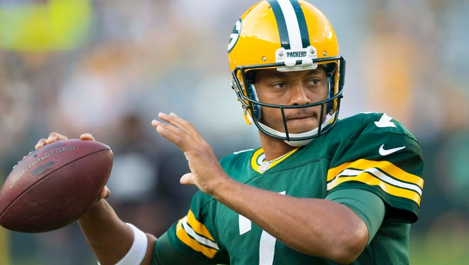 Packers quarterback Brett Hundley started for Green Bay in the exhibition game against the Oakland Raiders on Thursday night.