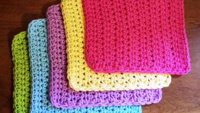 Beginning crocheters will start a simple washcloth at the Oct. 17 Crafternoon program at the Fond du Lac Public Library.