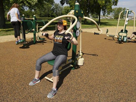 Winnebago County Park fitness equipment