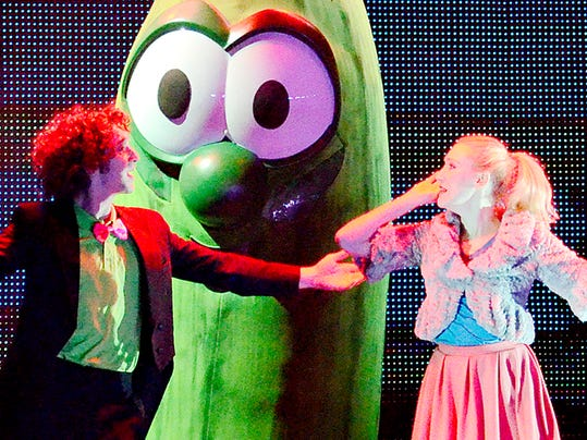 VeggieTales Live! Little Kids Do Big Things is shown at the Pullo Family Performing Arts Center in York, Pa. on Saturday, Nov. 14, 2015.