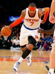 Carmelo Anthony finished with 28 points.
