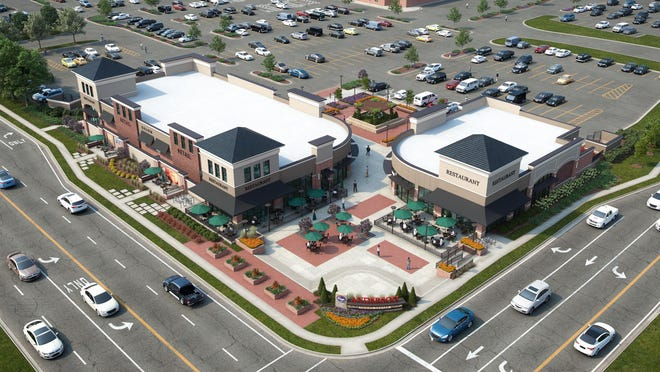 A rendering of the Shoppes of Anderson Towne Center, which Kroger plans to construct at the corner of Beechmont Avenue and Wolfangel Road.
