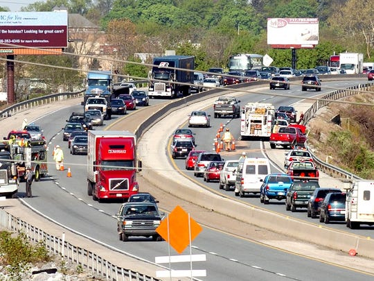 Two crashes, one on either side of the highway, slowed Interstate 83 traffic in both directions on April 19, 2010. The crashes happened about a half mile north of Sherman Street, tying up rush-hour traffic.