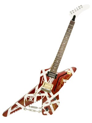Custom Van Halen Ibanez Destroyer Guitar sold for $4,500 at auction July 2.