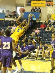 Angelo State University's DeVaughn Jenkins played his