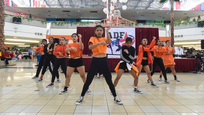 Okkodo High School students during the Guam Department of Education Allied Dance Force 2018 Island-wide High Schools and Middle Schools Dance Competition and showcase presentation of winners performance at the Micronesia Mall on May 6, 2018.
