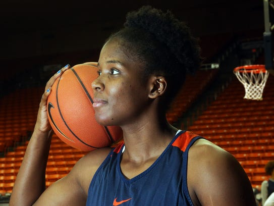 UTEP forward Tamara Seda, 42, at Tuesday's practice