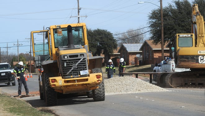 The northbound and southbound lanes of North Pioneer Drive were closed Tuesday from North Seventh to State streets for sewer repair work. The road was expected to be open Wednesday.