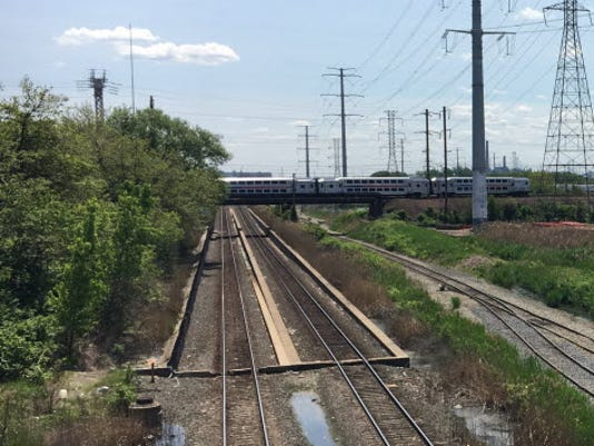 Meadowlands railroad tracks