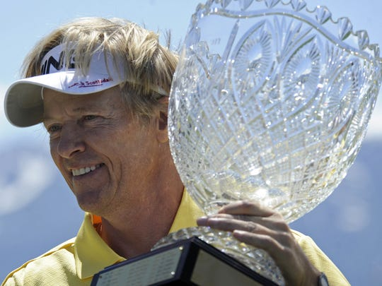 Actor Jack Wagner has been the top-performing golfer on the celebrity side at the American Century Classic tournament.