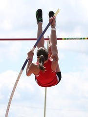 Ryktarsyk vaults over the bar during last week's regional meet.