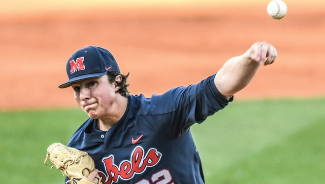 Ryan Rolison allowed two runs in seven innings pitched but Ole Miss still fell to Georgia, 3-2, Friday night in Oxford.