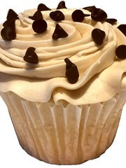 Chocolate Chip Cookie Dough cupcake