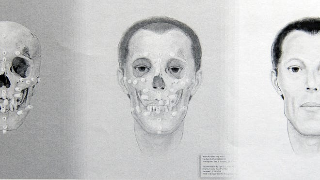 A progression of a composite sketch of a man whose bones were found in West Manchester in 2013. Police have been working on identifying the man, a cold case that is now part of a state investigative effort.
