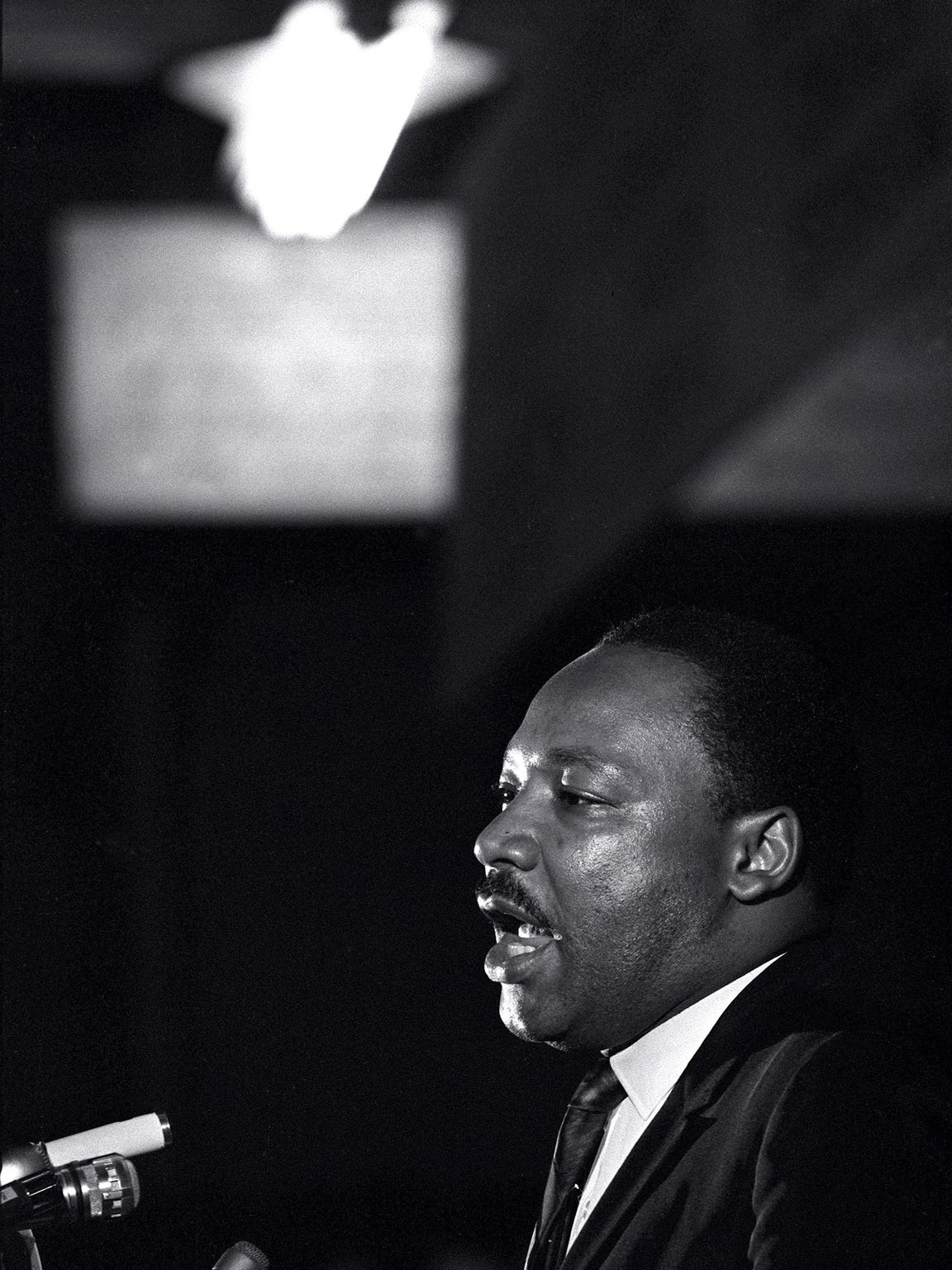 Dr. Martin Luther King Jr. makes his last public appearance