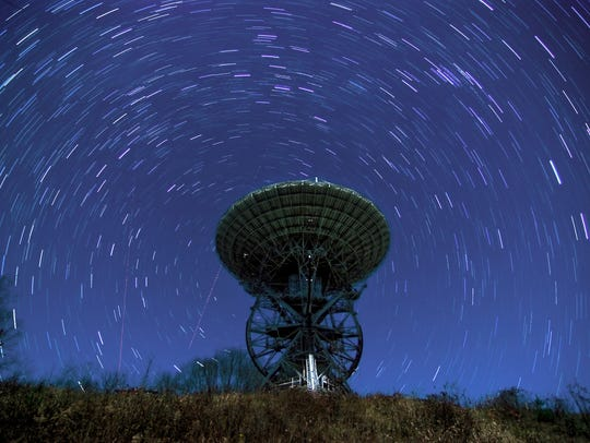 The first 26-meter radio telescope at PARI was installed