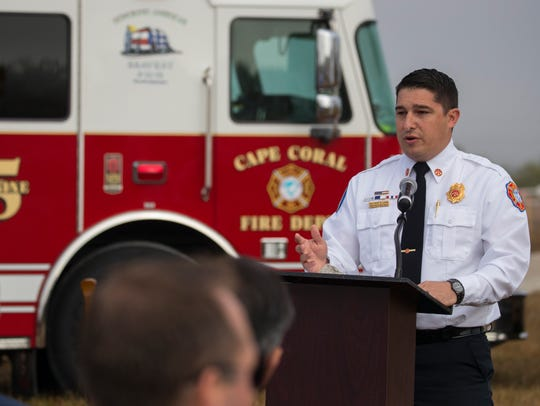 Cape Coral Fire Department interim chief Ryan Lamb