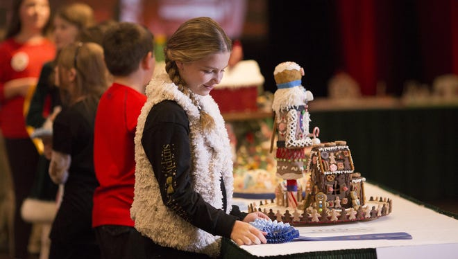 Perry Pate of Hickory, North Carolina, took first prize in the age 9-12 division of the 2016 National Gingerbread House Competition in Asheville, North Carolina.