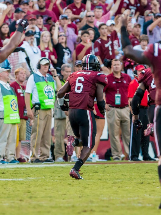 NCAA Football: Arkansas at South Carolina