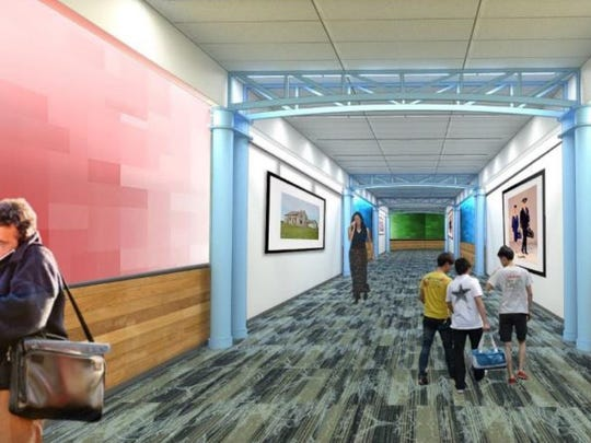 A rendering of CVG's terminal after renovation.